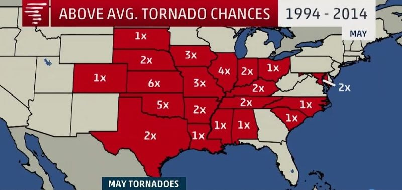 Increased tornado chances in May_Weather Channel 050116