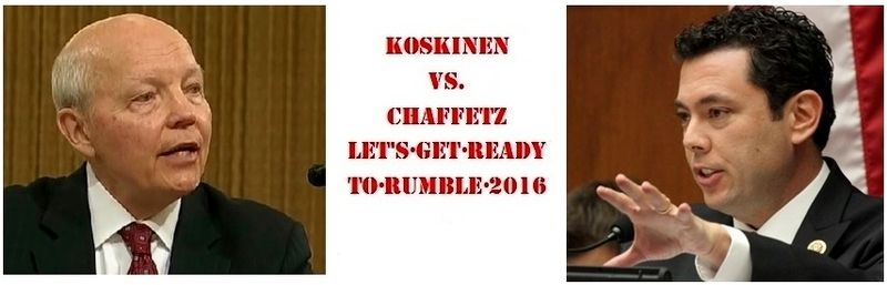 Koskinen vs Chaffetz 2016 impeachment banner