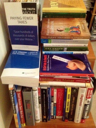 Some of my actual tax books