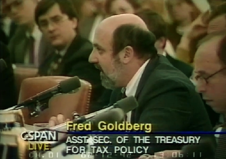 Fred Goldberg testifying before Joint Tax Committee 1992_CSPAN