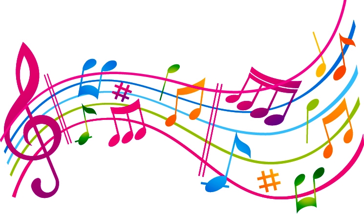 Music-treble-clef-notes-colorful