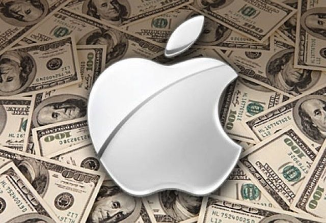 Apple logo over 100 dollar bills_cult of mac