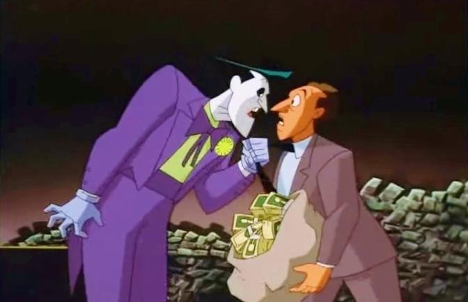Batman foe Joker faces big tax bill_New Adventures of Batman cartoon