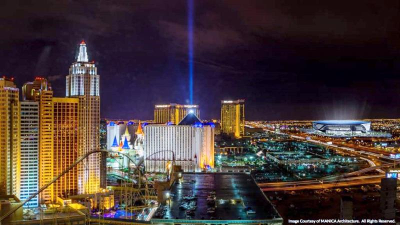 MANICA Architecture representation of Las Vegas NFL stadium location