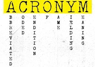 Acronym definition