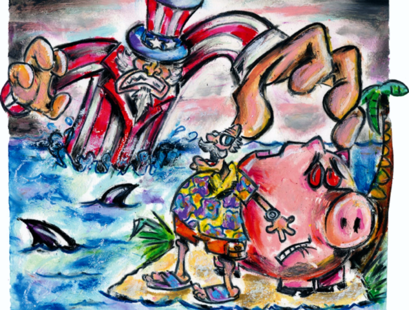 Offshore tax shelter drawing_Crains