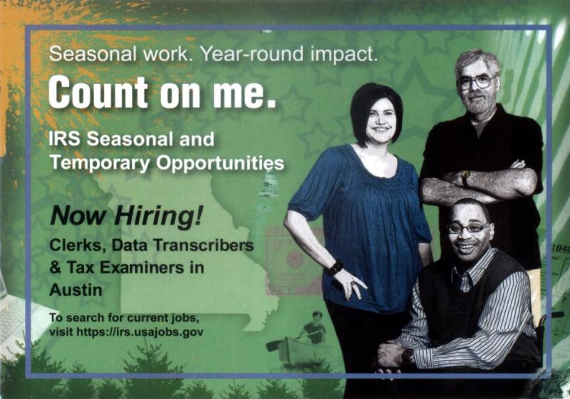 IRS seeking seasonal workers