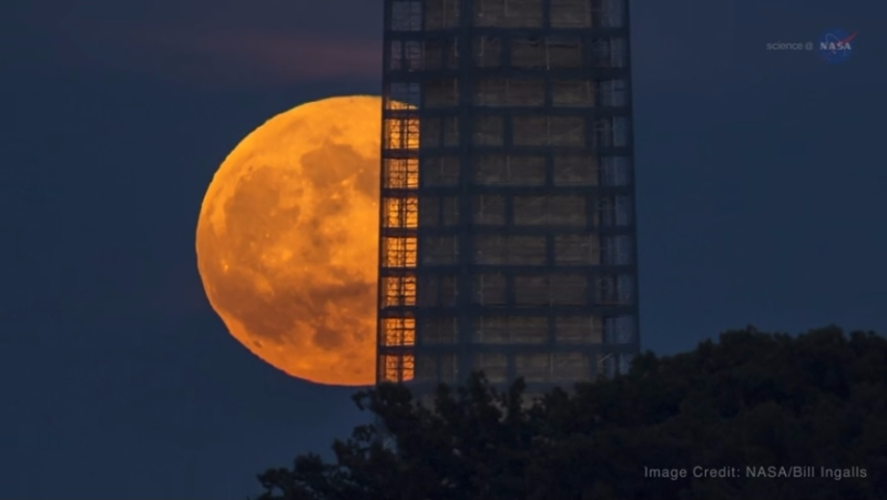 Supermoon and tower Nov 13 2016 NASA