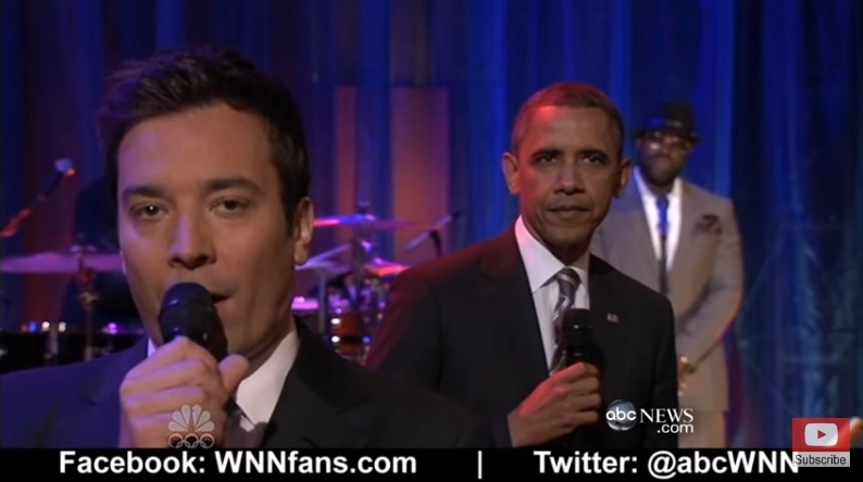 Obama slow jams news-student loans with Jimmy Fallon and Roots_ABCnews