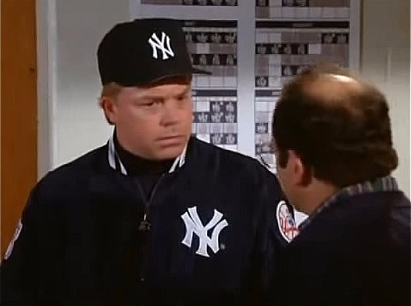 George Costanza played by Jason Alexander discusses Yankees uniforms with Buck Showalter