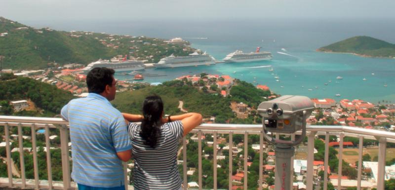 Skyline Overlook in St Thomas US Virgin Islands
