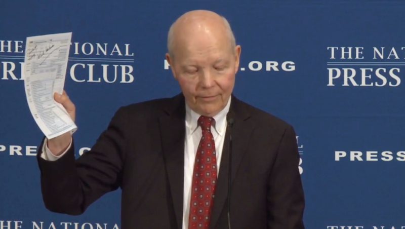 IRS Commissioner John Koskinen speaks at National Press Club April 5 2017
