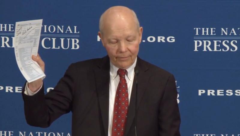 IRS Commissioner John Koskinen speaks at National Press Club April 5 2017
