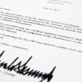 Comey Youre Fired termination letter from Trump