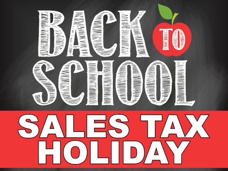 Back to School Tax Holiday blackboard notice_Florida Department of Revenue
