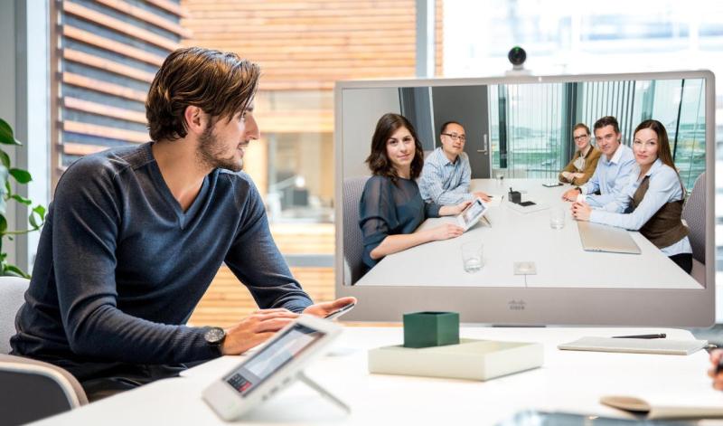 Corporate video conference via Viju