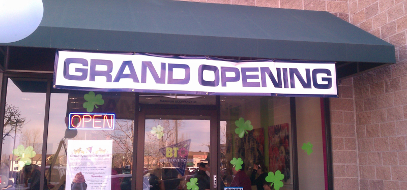 Grand opening yogurt shop