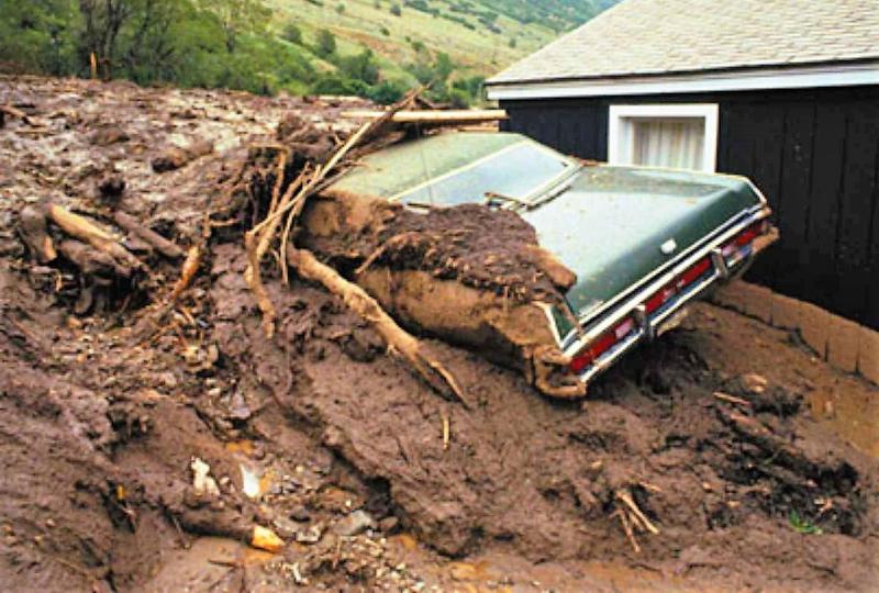 Mudslide car house