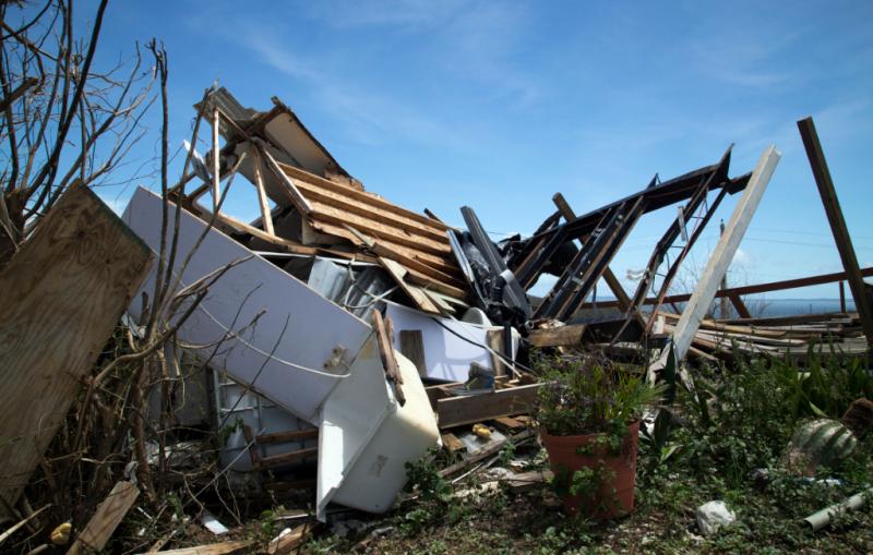 Puerto Rico home destroyed by Hurricane Irma_Yuisa Rios via FEMA