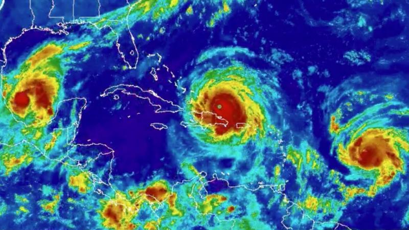 Hurricanes Katia Irma and Jose line up September 7 2017