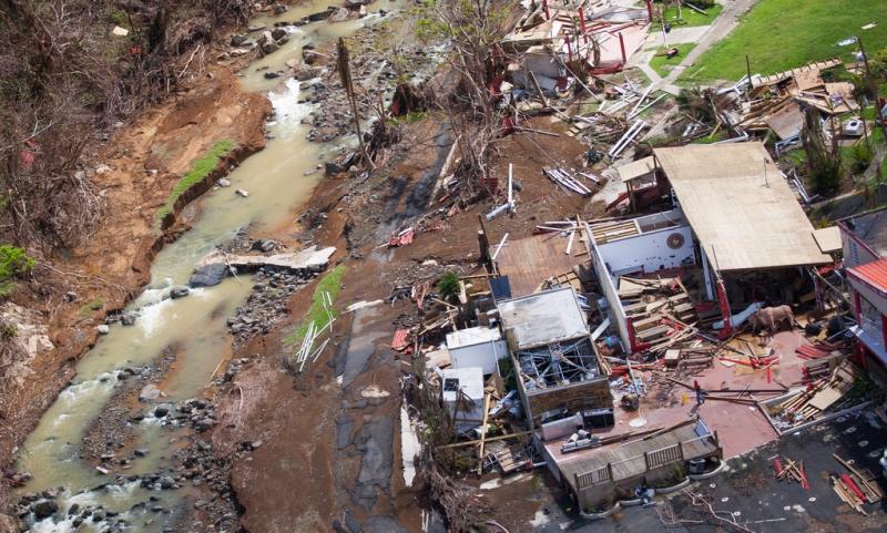 Barranquitas Puerto Rico damage 100917 aerial view_FEMA- Andrea Booher
