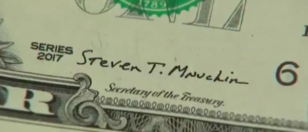 Steve Mnuchin signature now on currency_Nov 2017