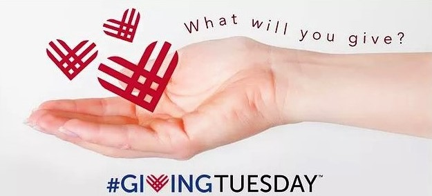 Giving Tuesday hand out to help