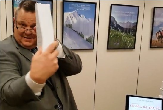Montana Sen Jon Tester size of Senate tax bill Twitter