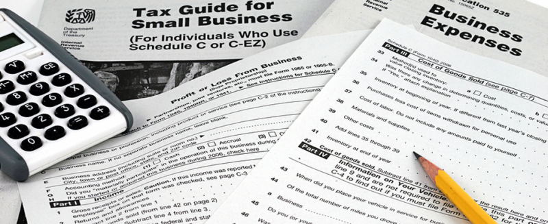 Business taxes paperwork