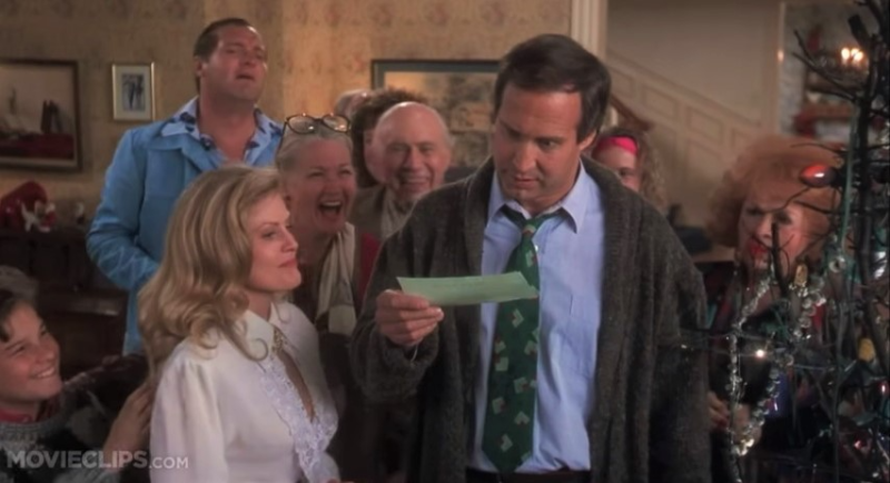 Clark Griswold National Lampoons Christmas Vacation bonus check via MovieClips