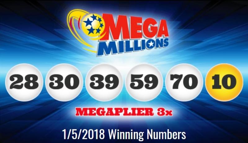 Mega Millions winning numbers January 5 2018