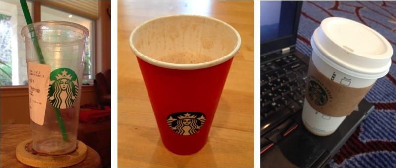 Kay's Starbucks coffee choices montage