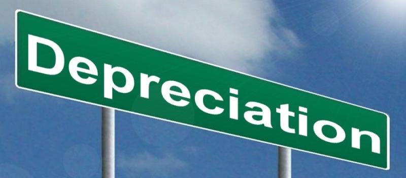 Depreciation road sign