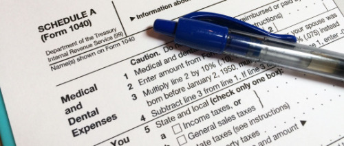 Schedule A itemized tax deductions