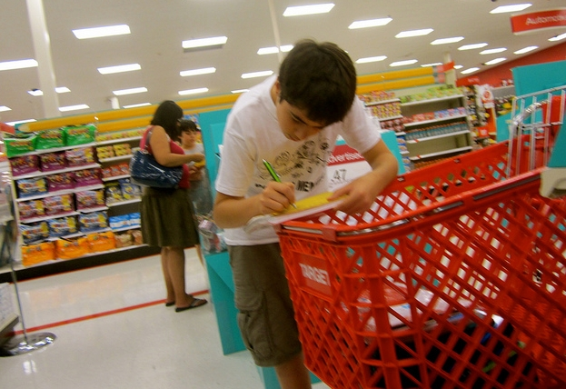 Checking back to school shopping list_Daniel X O-Neil_Flickr Creative Commons