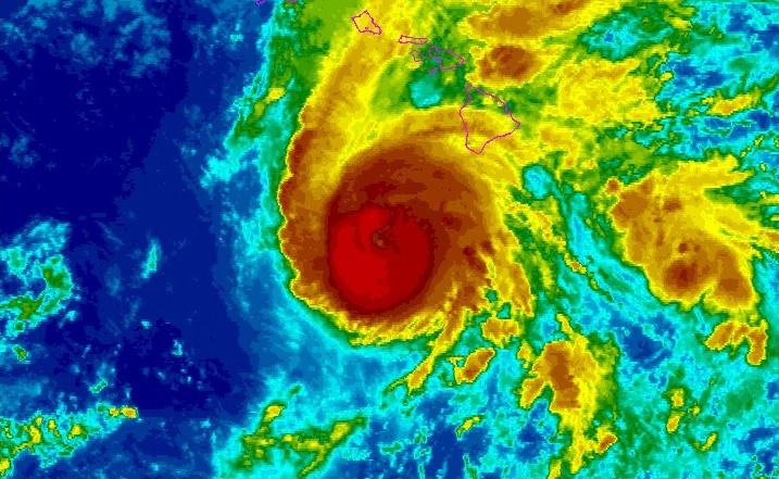 Hurricane Lane near Hawaii August 23 2018