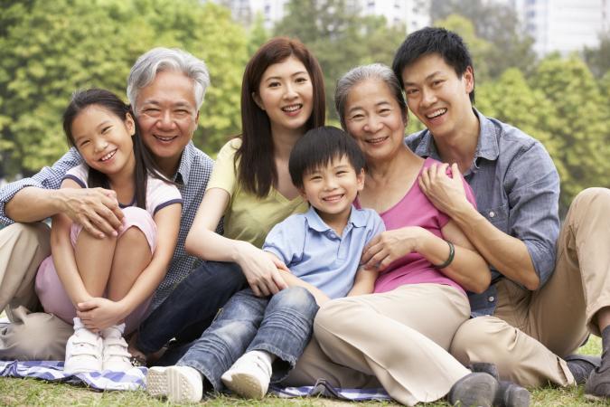 Multigenerational Chinese family