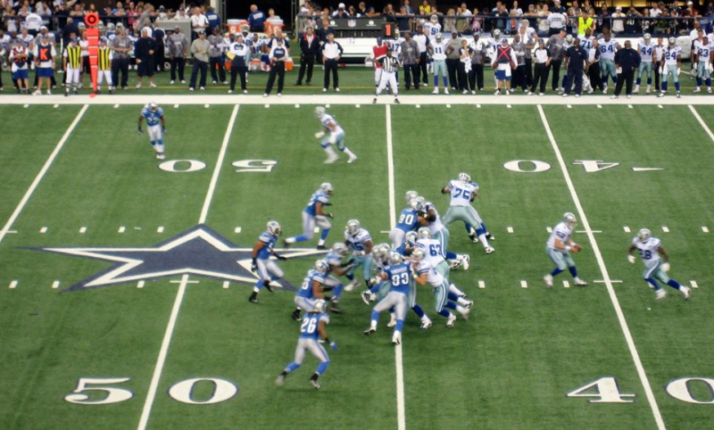 Dallas Cowboys vs Detroit Lions at Jerry World