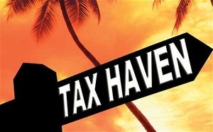 Tax haven sign