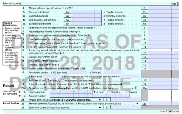 A Look At The Proposed New Form 1040 And Schedules Dont Mess With