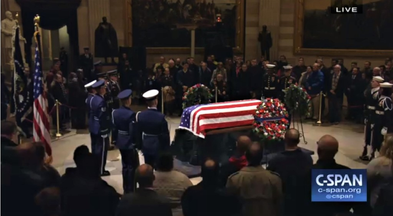 George HW Bush lies in state at US Capitol Dec 3 2018