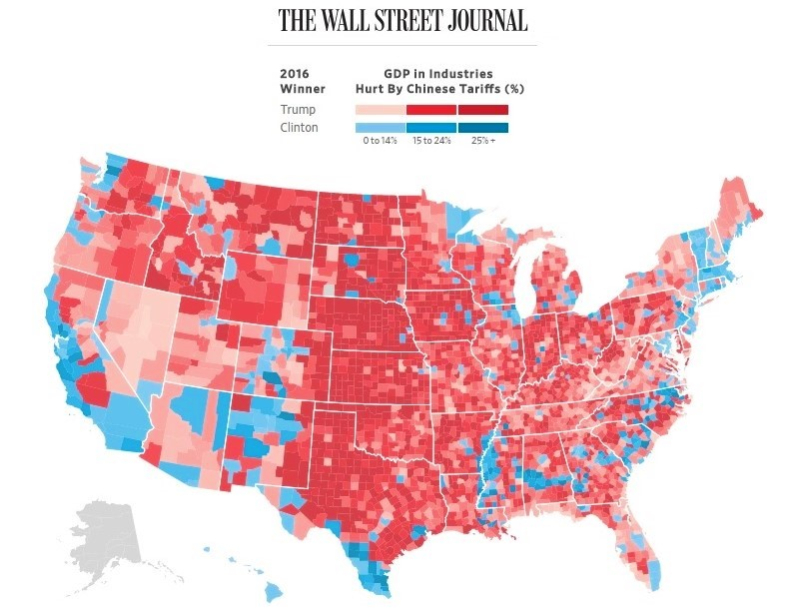 Tariffs effects across the US_Wall Street Journal Graphic