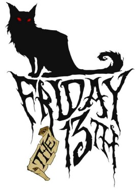 Friday the 13th black cat a la Theo Steinlen chat noir art