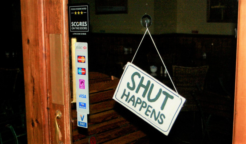 Shut Happen sign by Alan Cleaver via Flickr