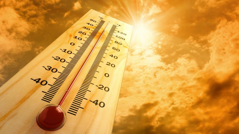Thermometer hot heat wave sun
