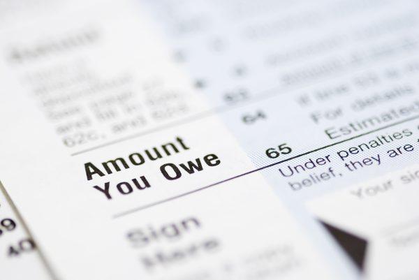 Amount of tax owed