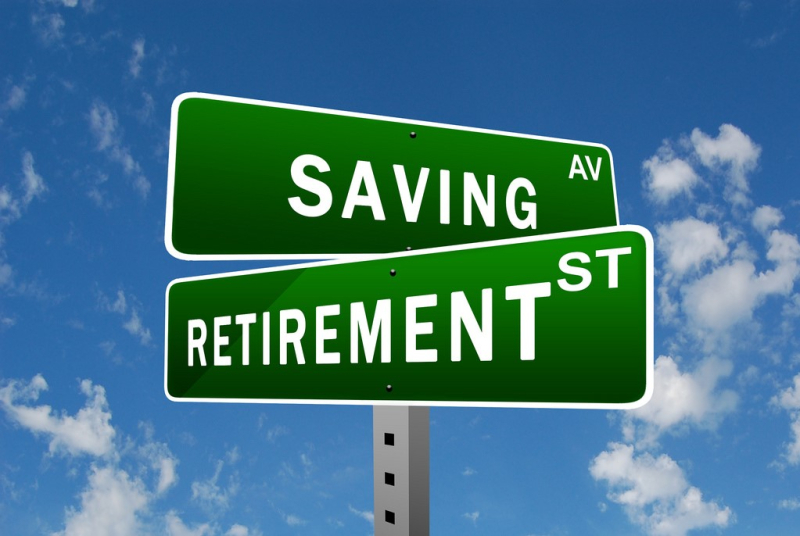 Retirement savings street signs