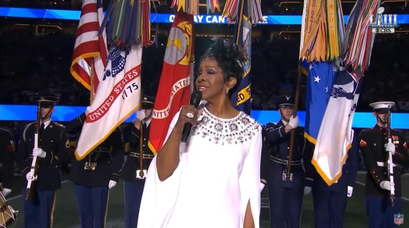 Gladys Knight Super Bowl LIII national anthem