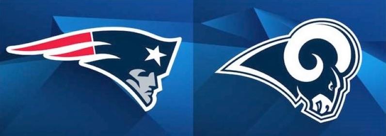 Patriots rams logos