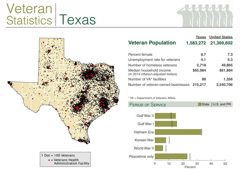 Veterans data Texas US Census